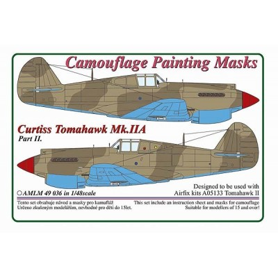 1/48 Curtiss Tomahawk Mk.IIB / Part II  - Camouflage Painting  Masks