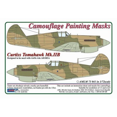 1/72 Curtiss Tomahawk Mk.IIB  - Camouflage Painting  Masks
