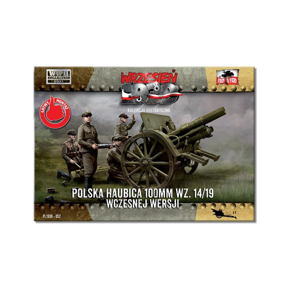 1/72 Polish Howitzer 100mm wz.14/19 Early version
