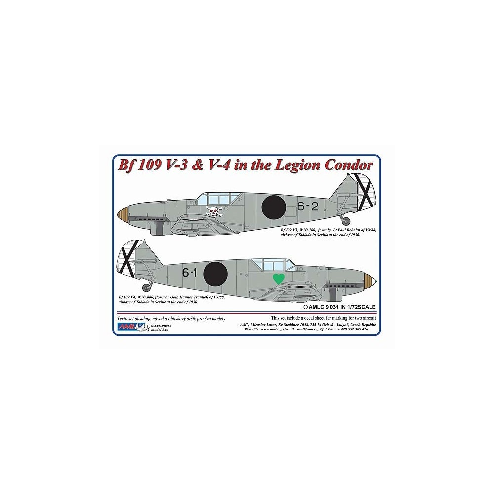 1/72 Messerschmitt Bf 109 V3,V4 – Legion Condor in Spain