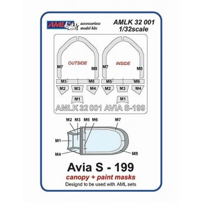 1/32 Avia S-199 Canopy and masks