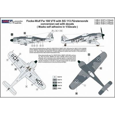 1/72 Fw 190 V75, DR+MH with SG 113 Förstersonde