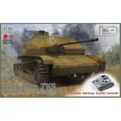 1/35 TKS-Polish Tankette with 20mm NKM wz. 38 FK-A   STARTET SET