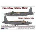 1/72 Vickers Wellington Mk.I - Camouflage Painting  Masks