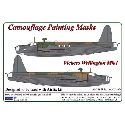1/72 Vickers Wellington Mk.I - Camouflage Painting  Masks
