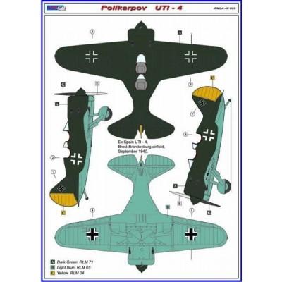 Polikarpov  UTI - 4 / Germany camouflages