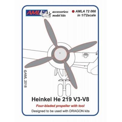 1/72Heinkel He 219 V3-V8 (Four bladed propeller with tool)