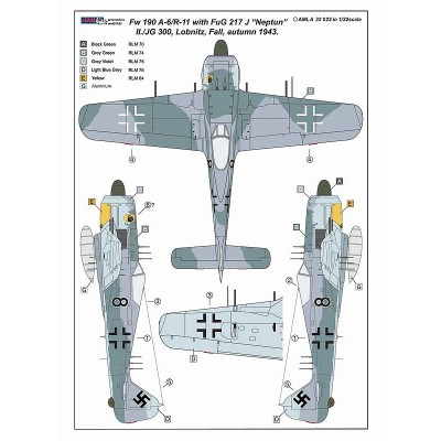 1/32 Fw 190 A-6/R11 with Radar Aerials FuG 217J-1