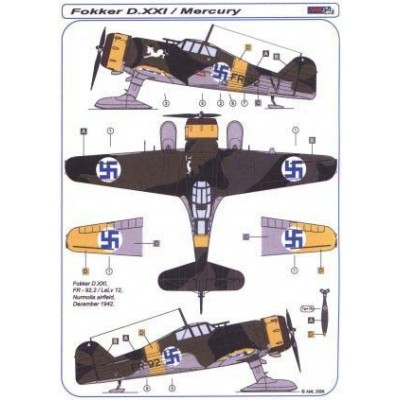 Fokker D.XXI SKIS