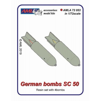 1/72 German bombs SC 50 – 4Pc