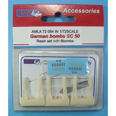 1/72 German bombs SC 50 – 6Pc
