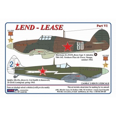 1/32 Hurricane &Spitfire, Lend-Lease  Serie, Part VI.