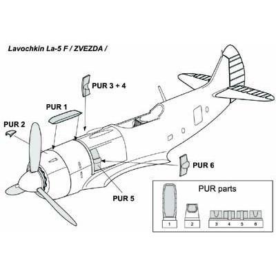 Lavochkin La-5 - 5FN / Cowling & Exhausts