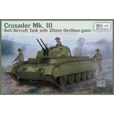 1/72 Crusader Anti Air Tank Mk. III with Oerlikon Guns