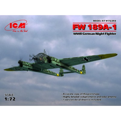1/72 FW 189A-1, WWII German Night Fighter