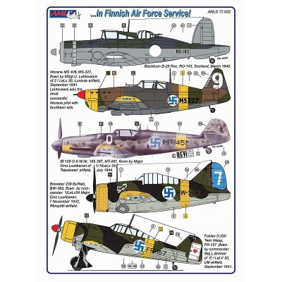 B.Roc,MS 406,Bf 109 G-6,Buffalo,D.XXI  in Finnish Air...