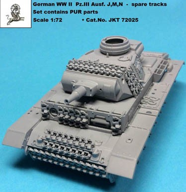 1/72 German WW II Pz.III Ausf. J,M,N - spare tracks ( PUR parts )
